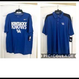 Lot of 2 UK Logo University of Kentucky Shirts XL